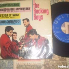 Discos de vinilo: THE ROCKING BOYS - MULTIPLICACION + 3 (-BELTER 1962) OG ESPAÑA ROCKABILLY SPAIN. Lote 105211655