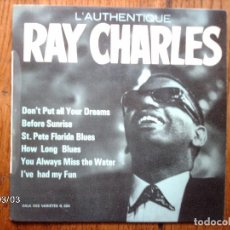 Discos de vinilo: RAY CHARLES - L´AUTHENTIQUE RAY CHARLES . Lote 105216859