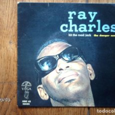 Discos de vinilo: RAY CHARLES - HIT THE ROAD JACK + SIDE BY SIDE + THE DANGER ZONE + TOGETHER . Lote 105217175