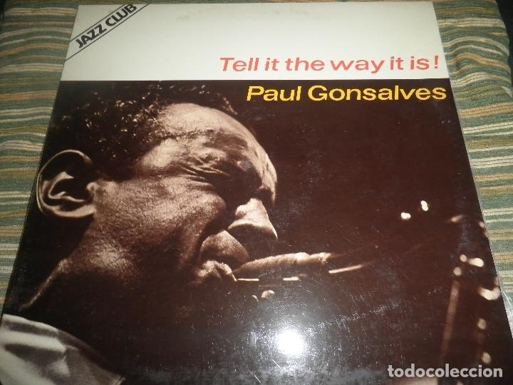 Discos de vinilo: PAUL GONSALVES - TELL IT THE WAY IT IS! LP - EDICION ESPAÑOLA - ABC IMPULSE 1978 - GATEFOLD COVER - Foto 1 - 105233835