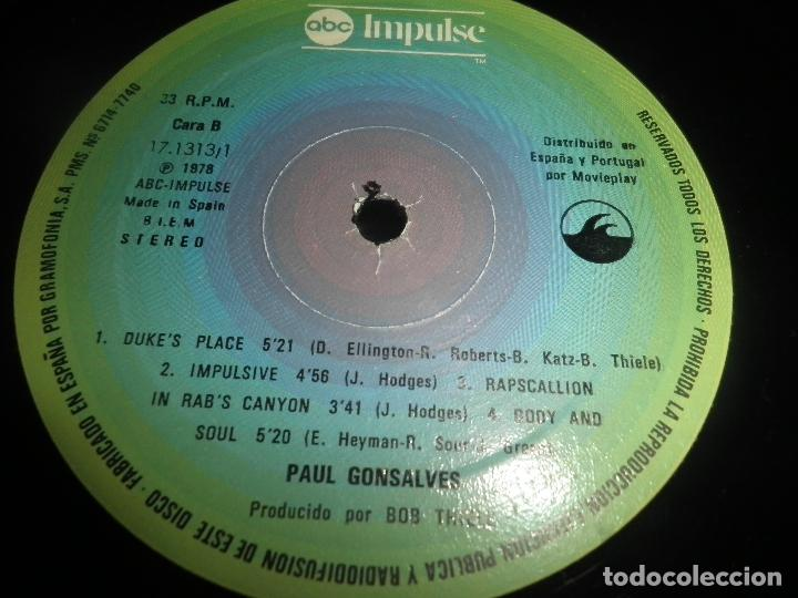 Discos de vinilo: PAUL GONSALVES - TELL IT THE WAY IT IS! LP - EDICION ESPAÑOLA - ABC IMPULSE 1978 - GATEFOLD COVER - Foto 15 - 105233835