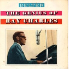 Discos de vinilo: RAY CHARLES - THE GENIUS, EP, LET THE GOOD TIMES ROLL + 3, AÑO 1960. Lote 105247115