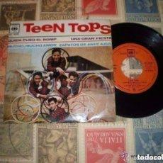 Discos de vinilo: TEEN TOPS, EP, QUIEN PUSO EL BOMP + ZAPATOS DE GAMUZA AZUL 3,CBS 1962 ORIGINAL ESPAÑA. Lote 105251799