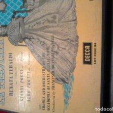 Discos de vinilo: TRAVIATA - POR RENATA TEBALDI. Lote 105253351