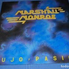 Discos de vinilo: MARSHALL MONROE LUJO Y PASION FIRMADO Y DEDICADO. Lote 105257151