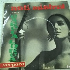 Discos de vinilo: NATI MISTRAL CANTA GARCIA LORCA / LOS MOZOS DE MONLEON / EL ZORONGO / LOS PELEGRINOS....EP. Lote 105266155