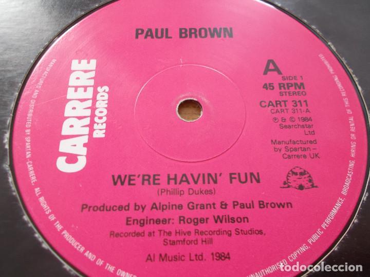 Discos de vinilo: PAUL BROWN. WE´RE HAVIN´ FUN. - Foto 2 - 105328275