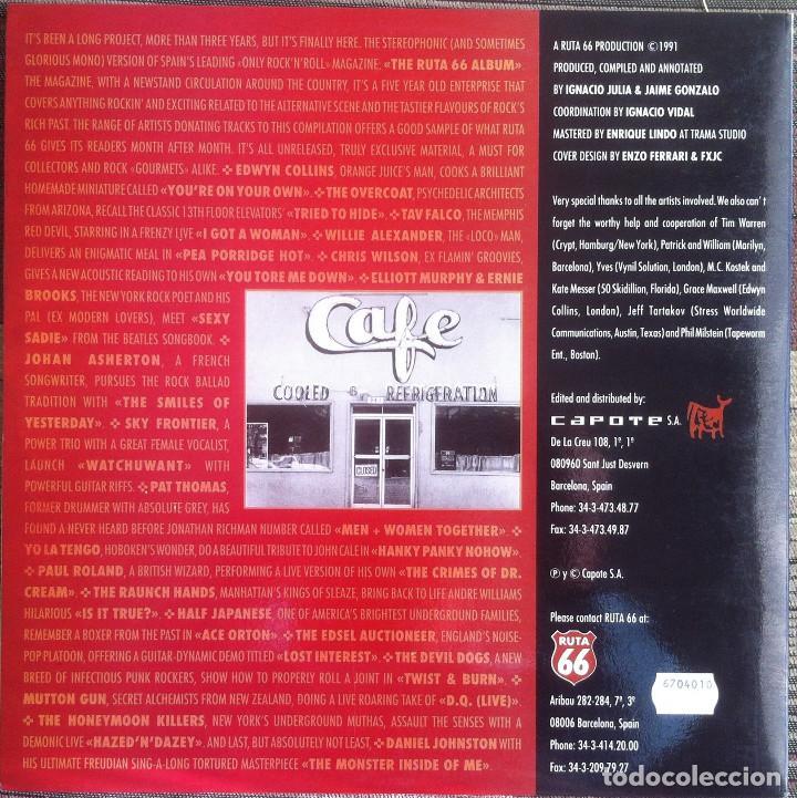 Discos de vinilo: The Ruta 66 Album - Compilación - LP 1991 CAPOTE CAP 15 Edición original española. - Foto 3 - 105339923