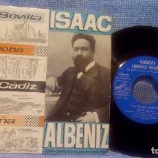Discos de vinilo: ISAAC ALBENIZ - SEVILLA - CORDOBA - CADIZ - ERITAÑA - SINFONICA ESPAÑOLA - 1960 - EP. Lote 105352299