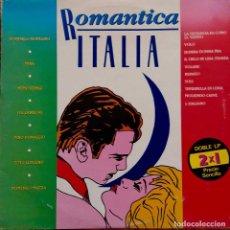 Discos de vinilo: ROMÁNTICA ITALIA. MINA, IVA ZANICCHI, DOMENICO MODUGNO,COTUGNO,DONAGGIO... DOBLE LP ESPAÑA, 2 DISCOS. Lote 105358879