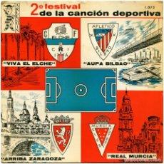 Discos de vinilo: VVAA + ORQ. NIZA - 2º FESTIVAL DE LA CANCIÓN DEPORTIVA - EP SPAIN 1965 - ARLEQUIN 1.072. Lote 105359151