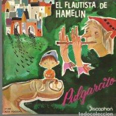 Discos de vinilo: EL FLAUTISTA DE HAMELIN / PULGARCITO EP SELLO DISCOPHON AÑO 1960 EDITADO EN ESPAÑA. Lote 105383327
