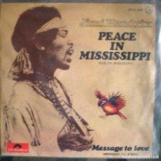 Discos de vinilo: JIMI HENDRIX – PEACE IN MISSISSIPPI / MESSAGE TO LOVE SPAIN 1975 RARO. Lote 105440243