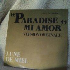 Discos de vinilo: PARADISE MI AMOR - LUNE DE MIEL - NÚMERO 1 EN FRANCIA - VINILO MAXI. Lote 105458310