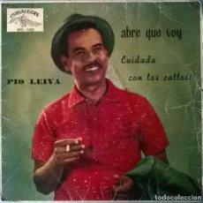 Discos de vinilo: PIO LEYVA. ABRE QUE VOY: CUIDADO CON LOS CALLOS/ COCALECA Y CANGREJAL + 2. CUBALEGRE, SPAIN 1962 EP . Lote 105474843