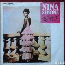 Discos de vinilo: NINA SIMONE-MY BABY JUST CARES FOR ME (7'' SINGLE.CHARLY.1987) REEDICION DEL CLASICO DE 1958. Lote 105486103