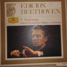 Discos de vinilo: HERBERT VON KARAJAN 9 SINFONIAS DE BEETHOVEN DEUTSCHE GRAMMOPHON 8 LPS COMPLETA. Lote 105514111
