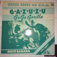 Discos de vinilo: GAZUZU - GO GO GORILLA. Lote 105569303