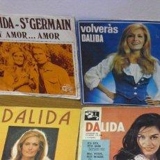 Discos de vinilo: DALIDA: 5 DISCOS ESPAÑOLES -UNO SIN PORTADA NUEVISIMO-COLECCIONISTAS. Lote 105585379