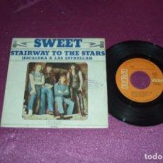 Discos de vinilo: SWEET - STAIRWAY TO THE STARS ( ESCALERA A LAS ESTRELLAS ) - SINGLE - 1977. Lote 105585975