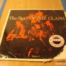 Discos de vinilo: LOTE LP DOBLE THE CLASH THE STORYOF THE CLASH SELLO CBS 1988...MIRAR FOTOS...SALIDA 1 EURO. Lote 105597215