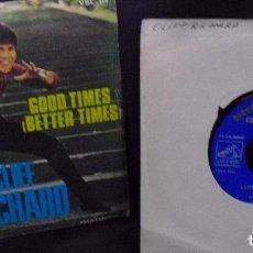 Discos de vinilo: CLIFF RICHARD: 1 SINGLE ESPAÑOL 1969 + 1 EP. PROMO LABEL LETRAS DORADAS,1965-OFERTA!!!. Lote 105597307