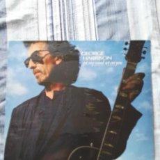 Discos de vinilo: GEORGE HARRISON MAXI SINGLE ESPAÑA GOT MY MIND SET ON YOU BEATLES RARO Y DIFÍCIL . Lote 105599203