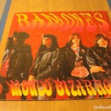 Discos de vinilo: LOTE LP RAMONES MONDO BIZARRO SELLO CHRYSALIS 1992 ED UK......SALIDA 1 EURO. Lote 105600071