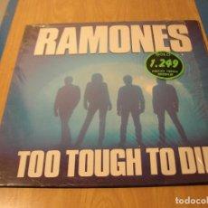 Discos de vinilo: LOTE LP RAMONES TOO TOUGH TO DIE SELLO ARIOLA 1985.....SALIDA 1 EURO. Lote 105600267
