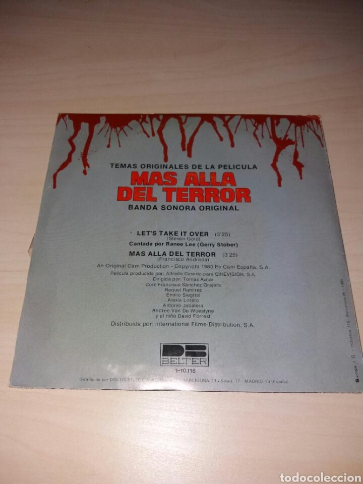 Discos de vinilo: Single MAS ALLÁ DEL TERROR - Foto 2 - 105600276