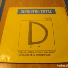 Discos de vinilo: LOTE LP SINIESTRO TOTAL GRAND SEXITOS DRO 1986.....SALIDA 1 EURO. Lote 105601595