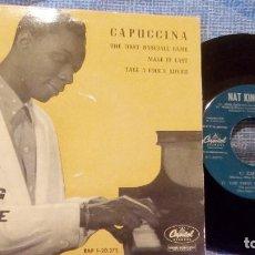 Discos de vinilo: NAT KING COLE - CAPUCCINA + 3 EP ESPAÑOL DEL AÑO 1962 - EAP 1-20.375 - VER FOTOS. Lote 105610071