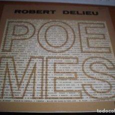 Discos de vinilo: ROBERT DELIEU, POEMES. EDICION DECCA. RARO. PORTADA DOBLE.. Lote 105611287