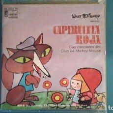 Discos de vinilo: CAPERUCITA ROJA - HISPAVOX - WALT DISNEY - 1971 - CUENTO PARA LEER Y ESCUCHAR. Lote 105616671