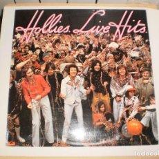 Discos de vinilo: LP THE HOLLIES. HOLLIES LIVE HITS. ENGLAND 1976 (DISCO PROBADO Y BIEN). Lote 105628435