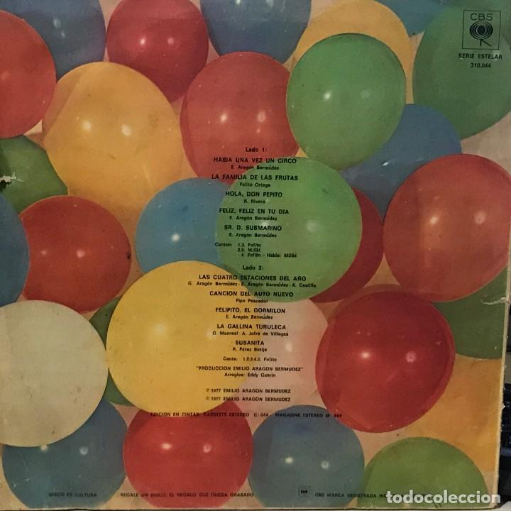 Discos de vinilo: LP argentino de Gaby, Miliki, Fofito y Milikito año 1977 - Foto 2 - 105631803
