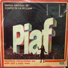 Discos de vinilo: LP ARGENTINO BSO DE LA PELÍCULA PIAF AÑO 1974. Lote 105632923