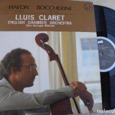 Discos de vinilo: LLUIS CLARET, VIOLONCELO, HAYDN, BOCHERINI, -LP1984 -BUEN ESTADO. Lote 105639455