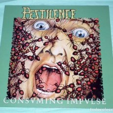 Discos de vinilo: LP PESTILENCE - CONSUMING IMPULSE. Lote 105641999