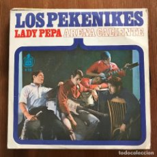Discos de vinilo: PEKENIKES - LADY PEPA / ARENA CALIENTE - SINGLE HISPAVOX 1966. Lote 105643015