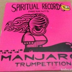 Discos de vinilo: MANJARO – TRUMPETITION. SPIRITUAL RECORDS 1996. ED HOLANDA . Lote 105646099