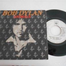 Discos de vinilo: BOB DYLAN-ANIMALS-SINGLE PROMO. Lote 105646103