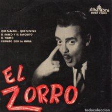 Discos de vinilo: EL ZORRO, EP, QUE PATATIN... QUE PATATAN + 3, AÑO 1958. Lote 105648887