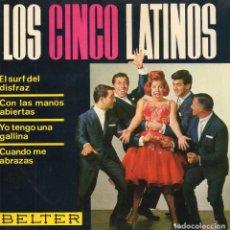 Discos de vinilo: 5 LATINOS, LOS, EP, EL SURF DEL DISFRAZ + 3, AÑO 1964. Lote 105651839