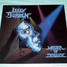 Discos de vinilo: LP LIZZY BORDEN - MASTER OF DISGUISE. Lote 105655555