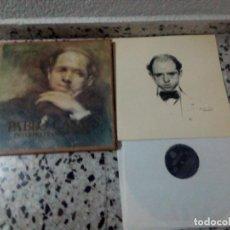 Discos de vinilo: PRECIOSO CATALOGO CON 3DICOS Y BIOGRAFÍA DE PABLO CASSAL. Lote 105684255