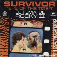 Discos de vinilo: SURVIVOR, EYE OF THE TIGER, SINGLE SPAIN 1982. Lote 105689595