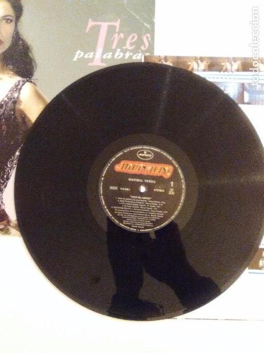 Discos de vinilo: MARIBEL VERDU Tres palabras ( 1993 MERCURY ESPAÑA ) RARISIMA EDICION ORIGINAL - Foto 4 - 105699171