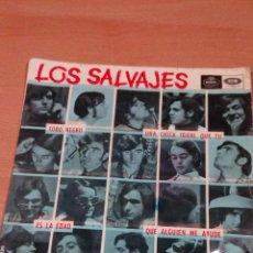 Discos de vinilo: LOS SALVAJES - TODO NEGRO - UNA CHICA IGUAL QUE TU - ES LA EDAD - QUE ALGUIEN ME AYUDE - LEER. Lote 105702067