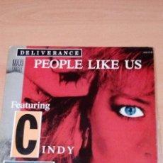 Discos de vinilo: DELIVERANCE - FEATURING CINDY DICKINSON -- PEOPLE LIKE US - - BUEN ESTADO -. Lote 105702111